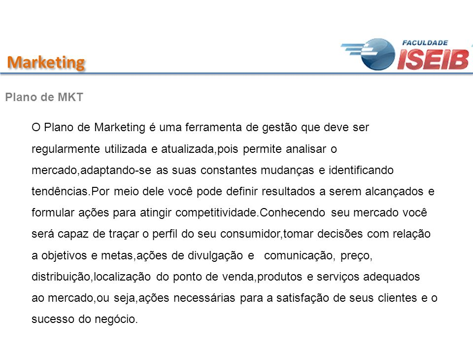 Marketing Plano de MKT.