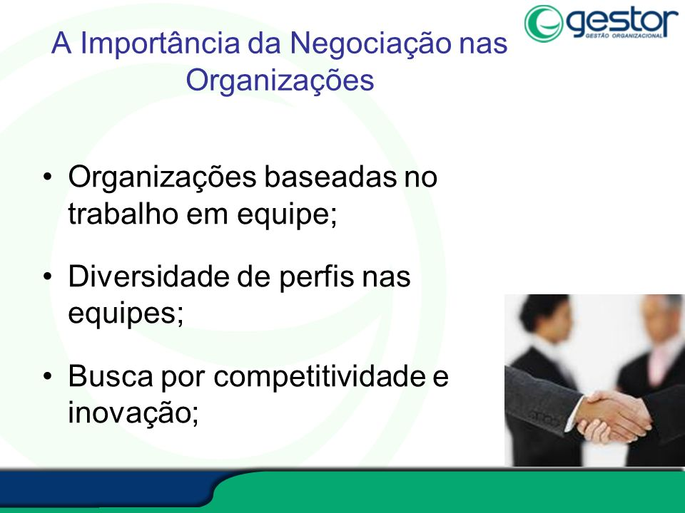 A Importância da Negociação nas Organizações