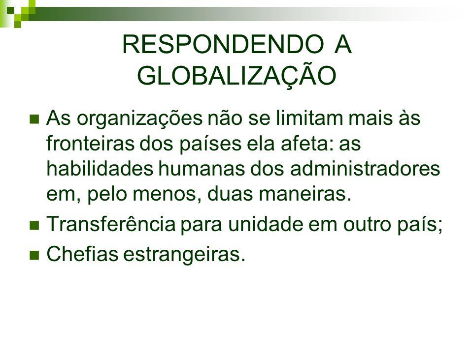 RESPONDENDO A GLOBALIZAÇÃO