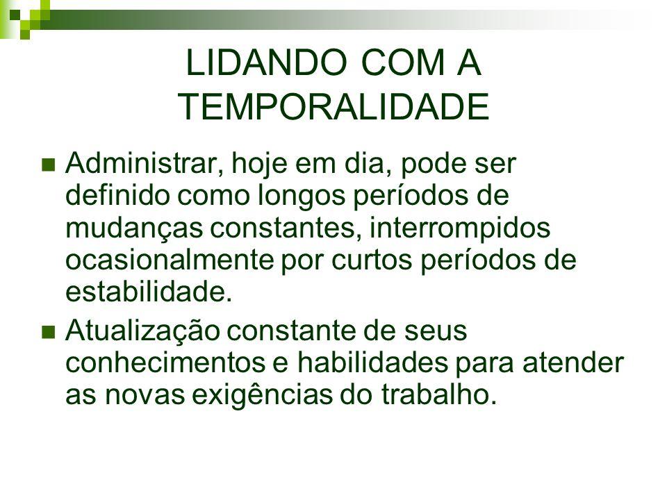 LIDANDO COM A TEMPORALIDADE