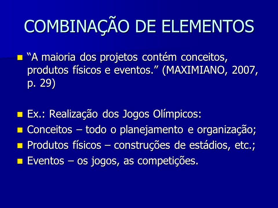 COMBINAÇÃO DE ELEMENTOS