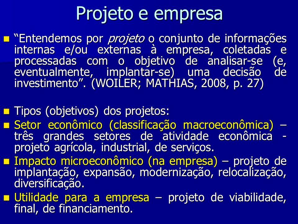 Projeto e empresa