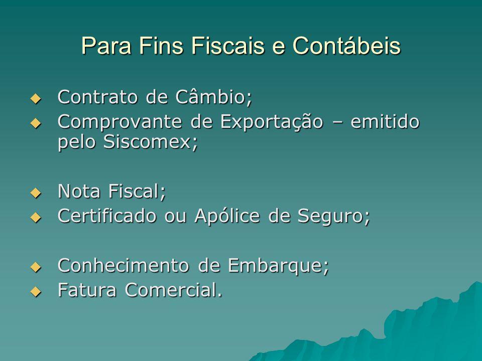 Para Fins Fiscais e Contábeis