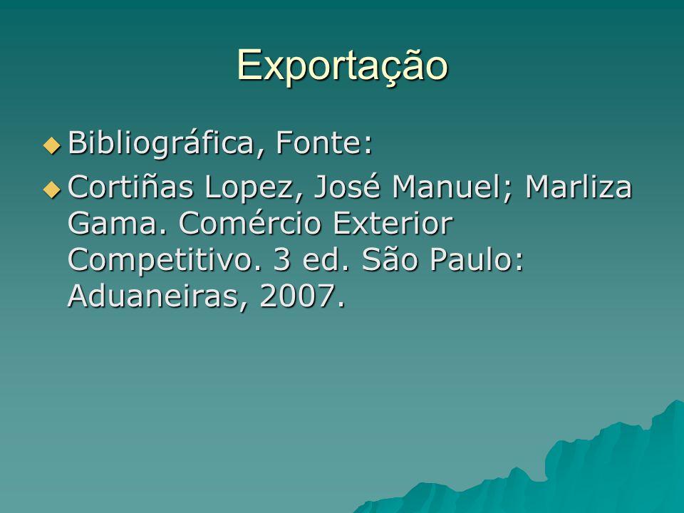 Exportação Bibliográfica, Fonte: