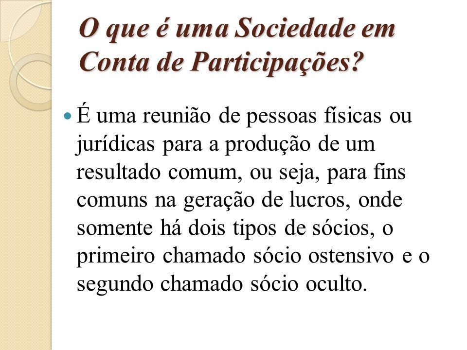 O que é uma Sociedade em Conta de Participações