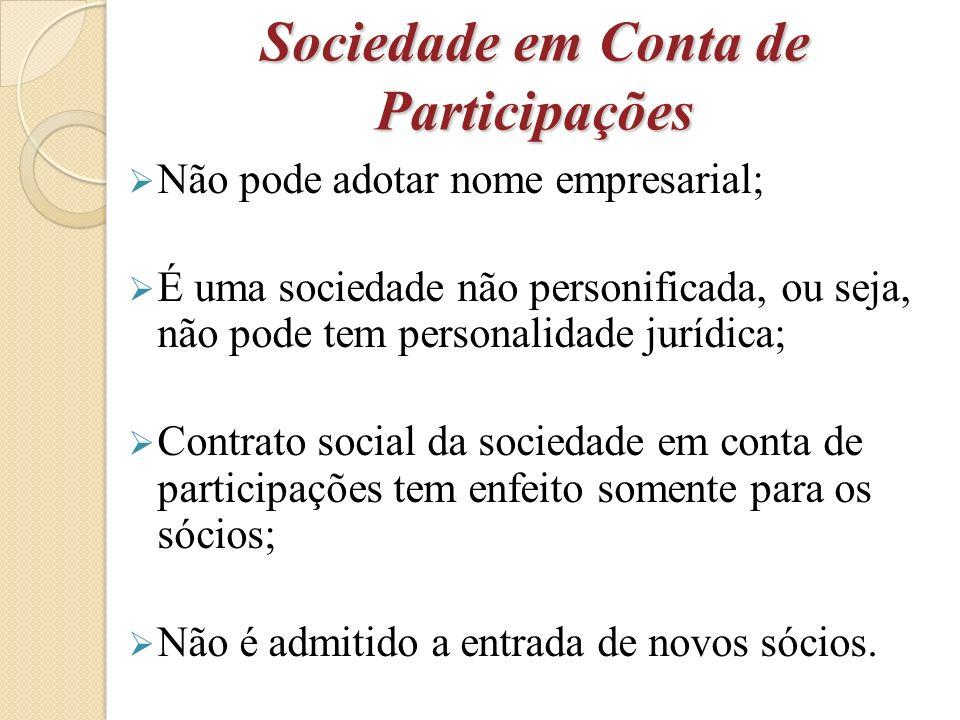 Sociedade em Conta de Participações