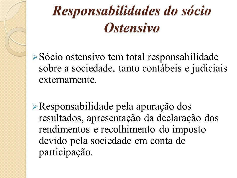 Responsabilidades do sócio Ostensivo