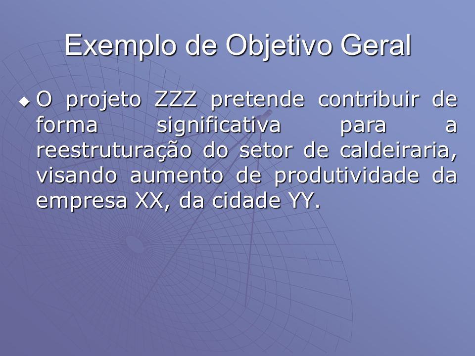 Exemplo de Objetivo Geral