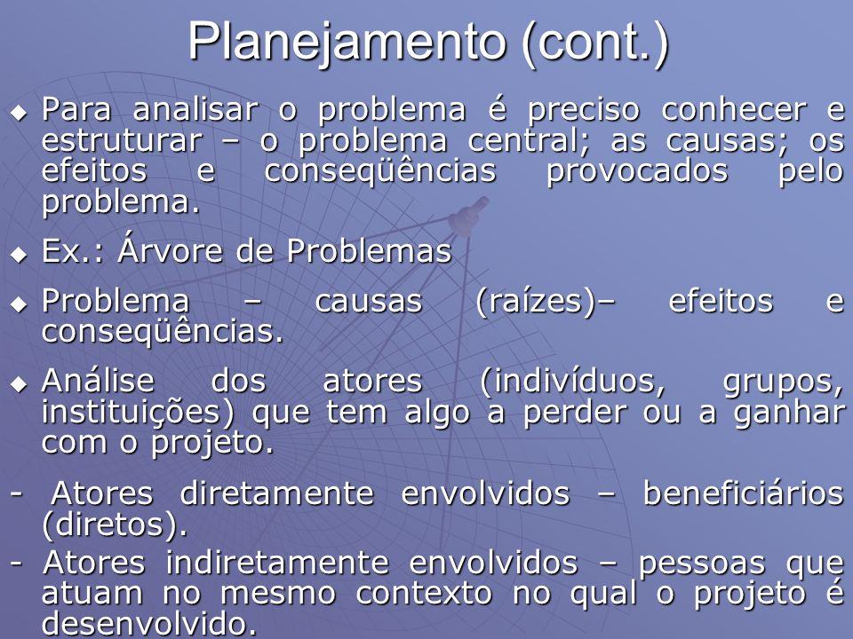 Planejamento (cont.)