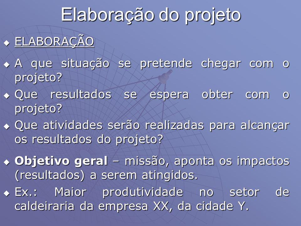 Elaboração do projeto ELABORAÇÃO