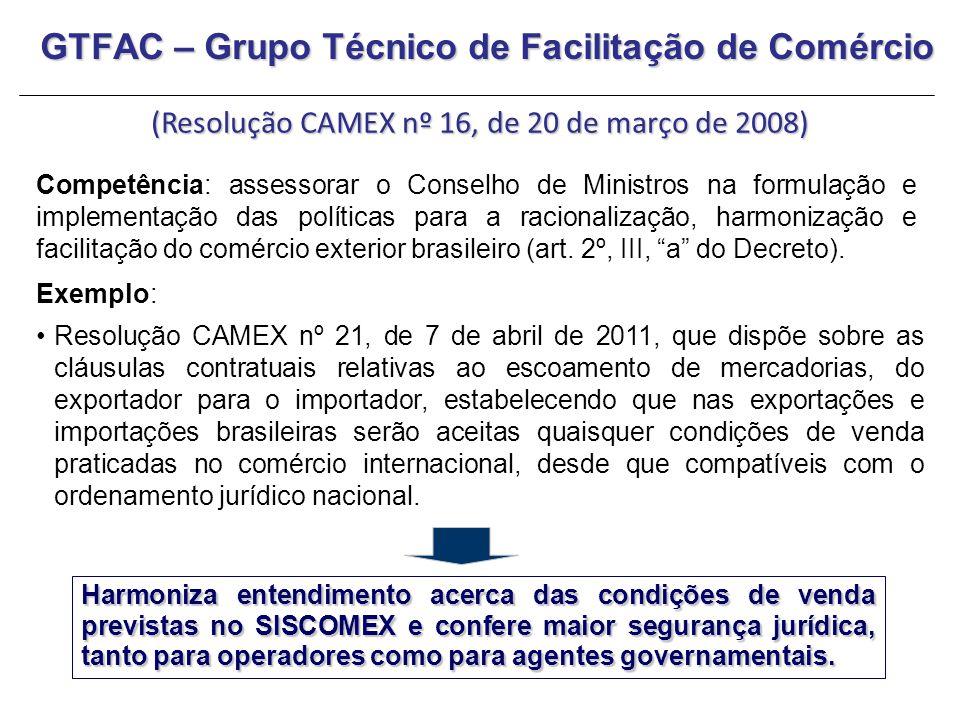 GTFAC – Grupo Técnico de Facilitação de Comércio
