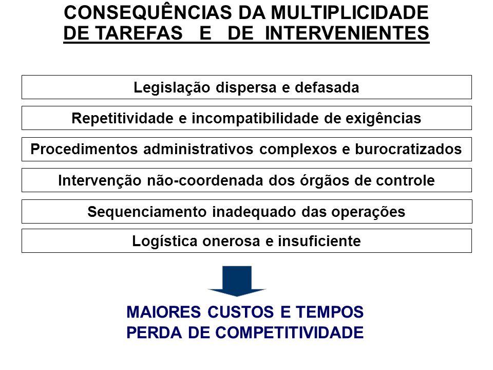 CONSEQUÊNCIAS DA MULTIPLICIDADE DE TAREFAS E DE INTERVENIENTES