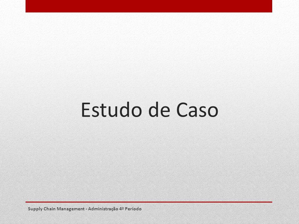 Estudo de Caso Supply Chain Management - Administração 4º Período