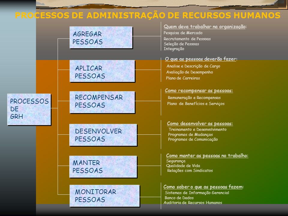 PROCESSOS DE ADMINISTRAÇÃO DE RECURSOS HUMANOS