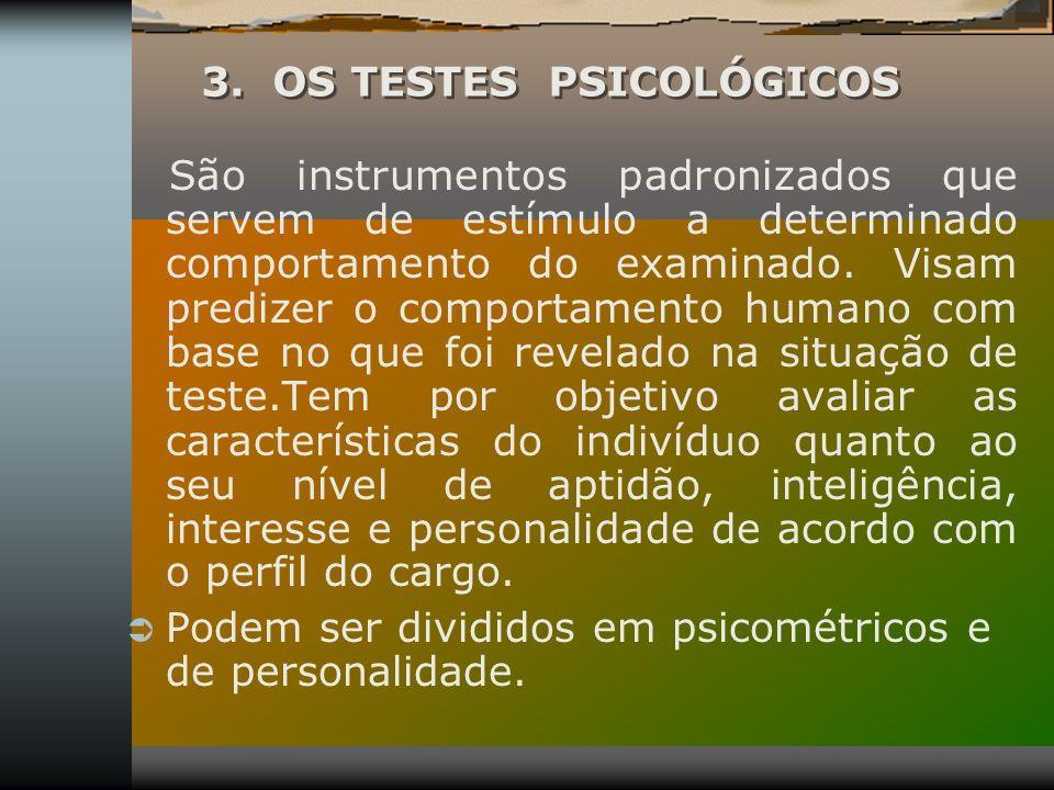 3. OS TESTES PSICOLÓGICOS