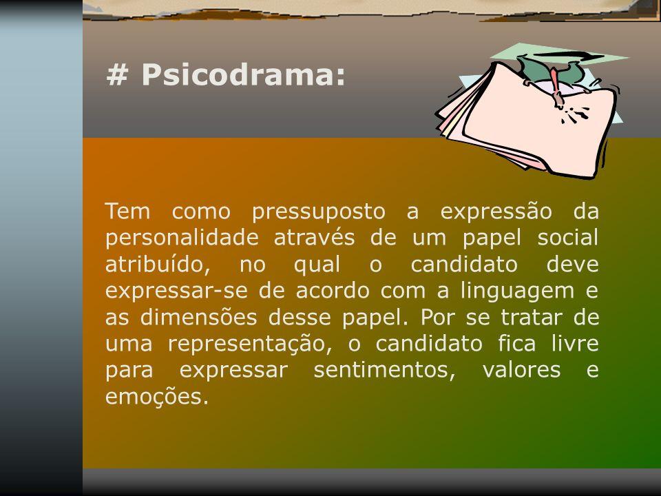 # Psicodrama: