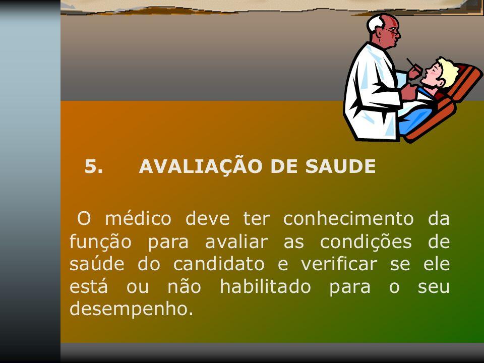 5. AVALIAÇÃO DE SAUDE