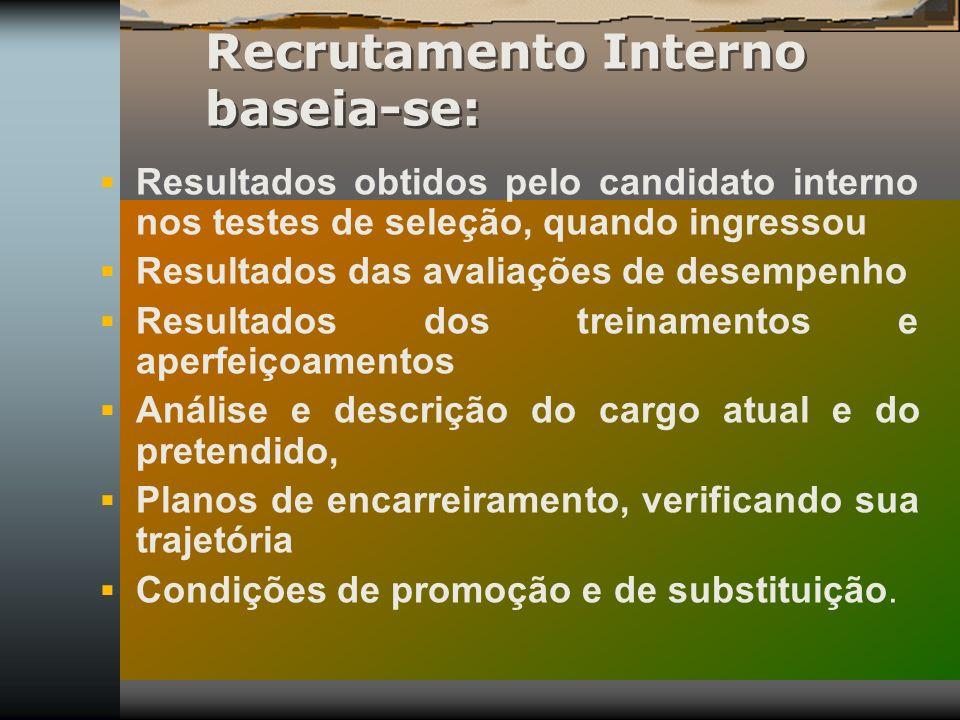 Recrutamento Interno baseia-se: