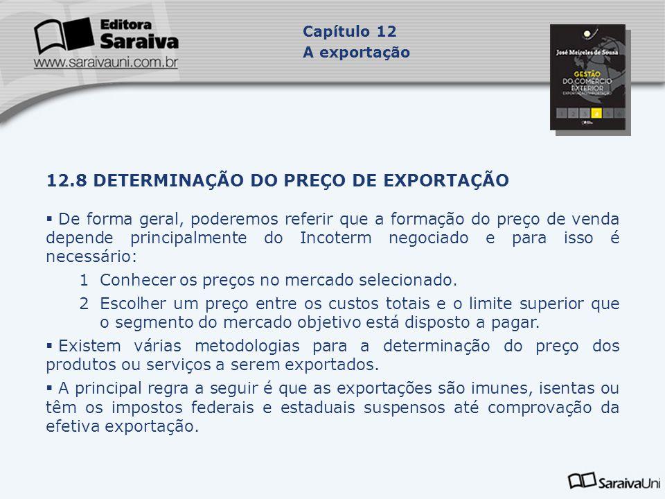 12.8 DETERMINAÇÃO DO PREÇO DE EXPORTAÇÃO