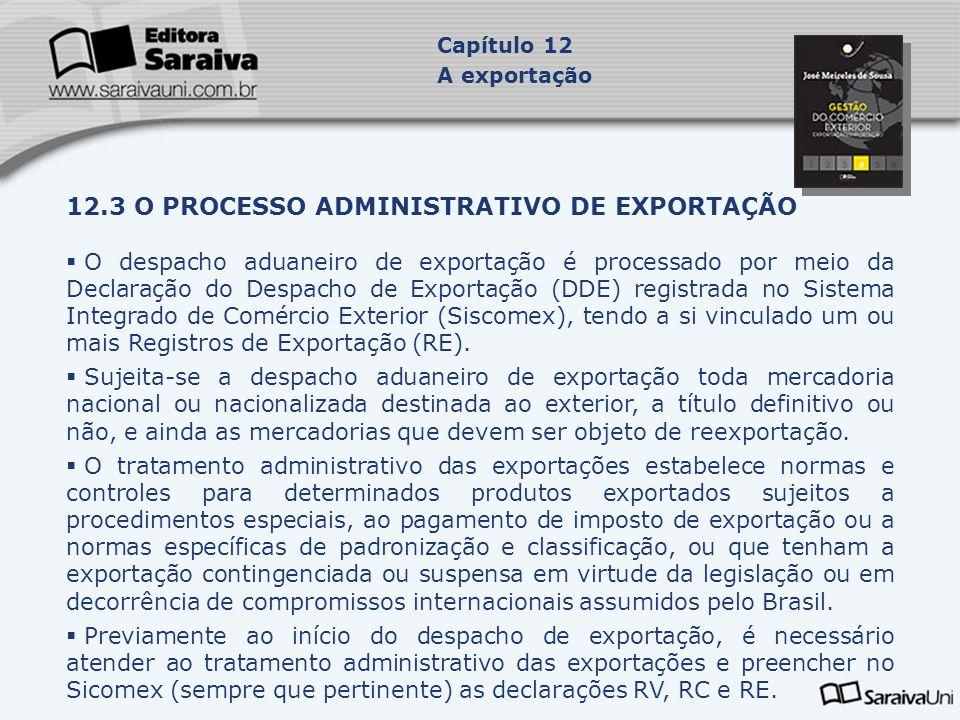 12.3 O PROCESSO ADMINISTRATIVO DE EXPORTAÇÃO