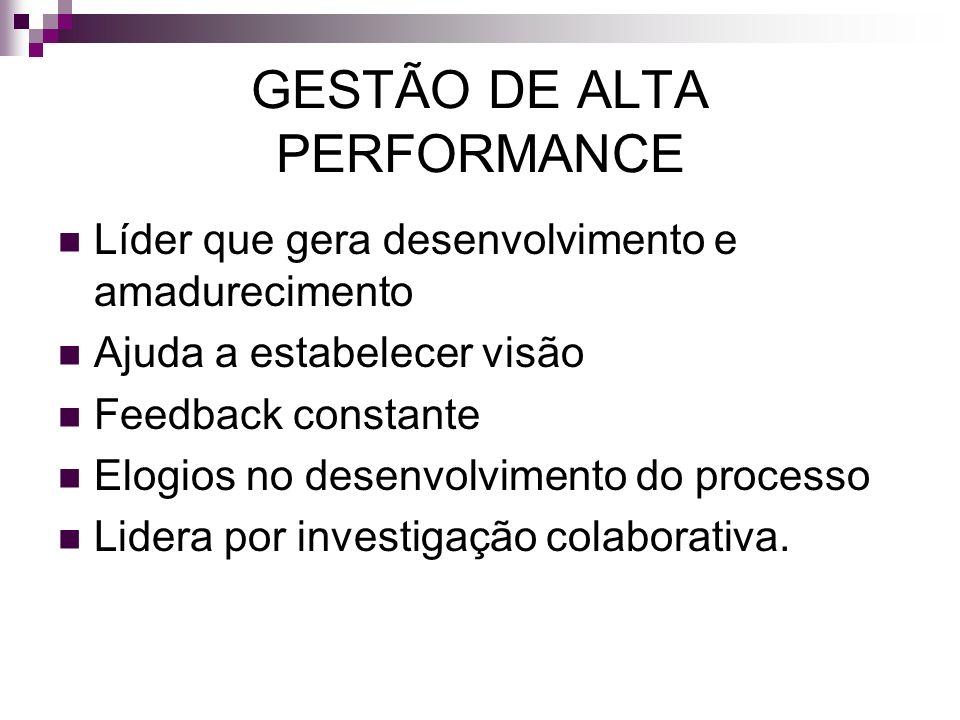 GESTÃO DE ALTA PERFORMANCE