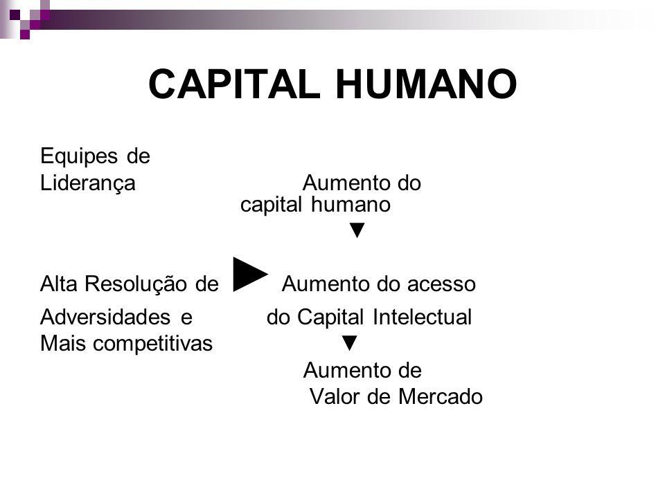 CAPITAL HUMANO Equipes de Liderança Aumento do capital humano ▼
