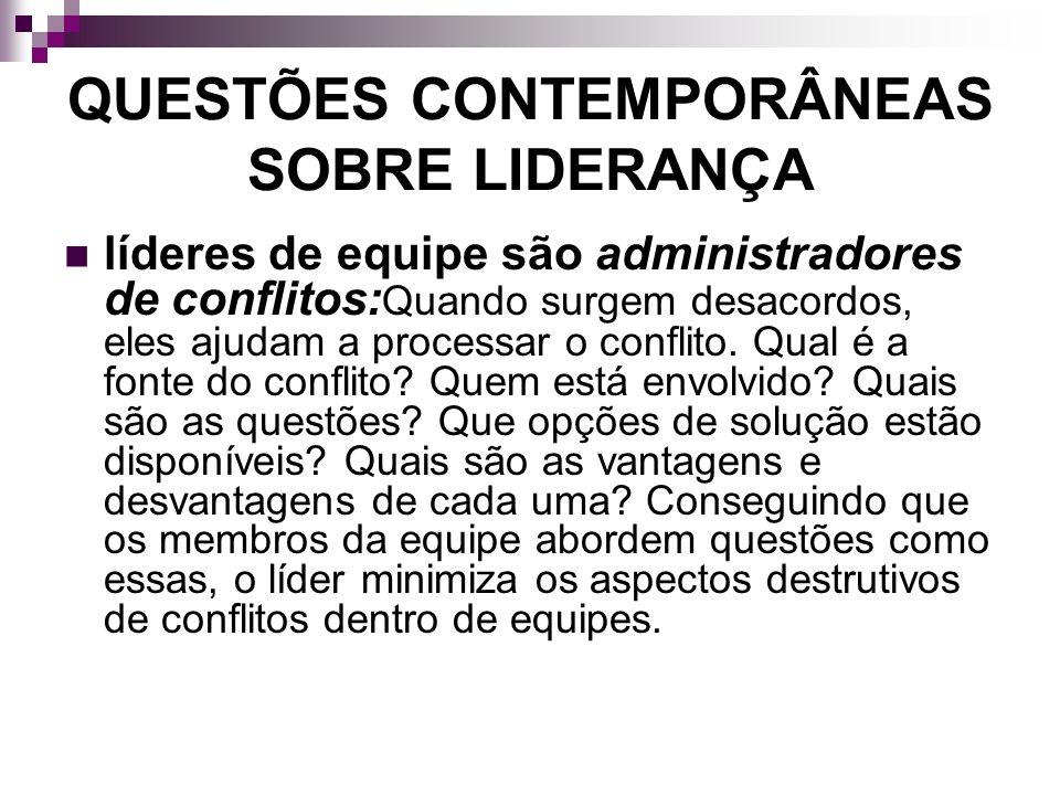 QUESTÕES CONTEMPORÂNEAS SOBRE LIDERANÇA