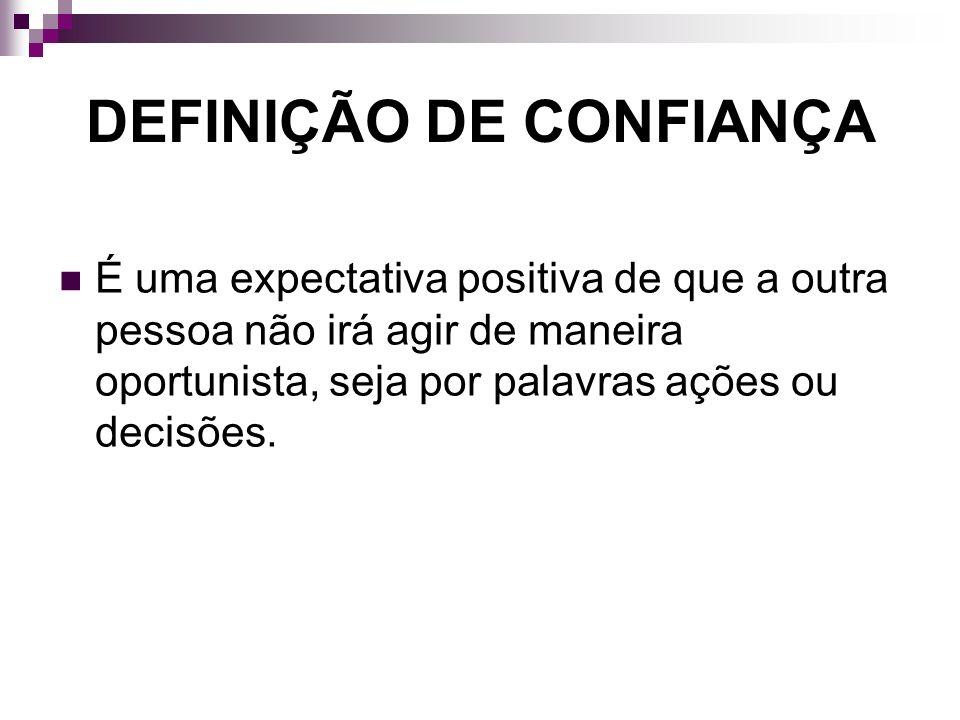 DEFINIÇÃO DE CONFIANÇA