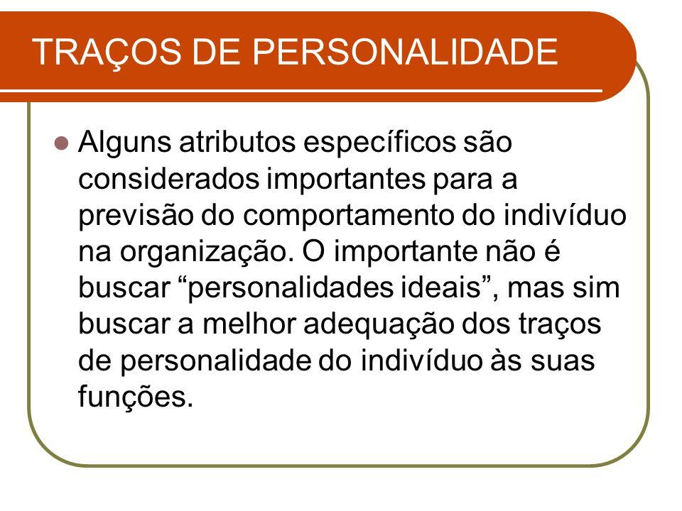 TRAÇOS DE PERSONALIDADE