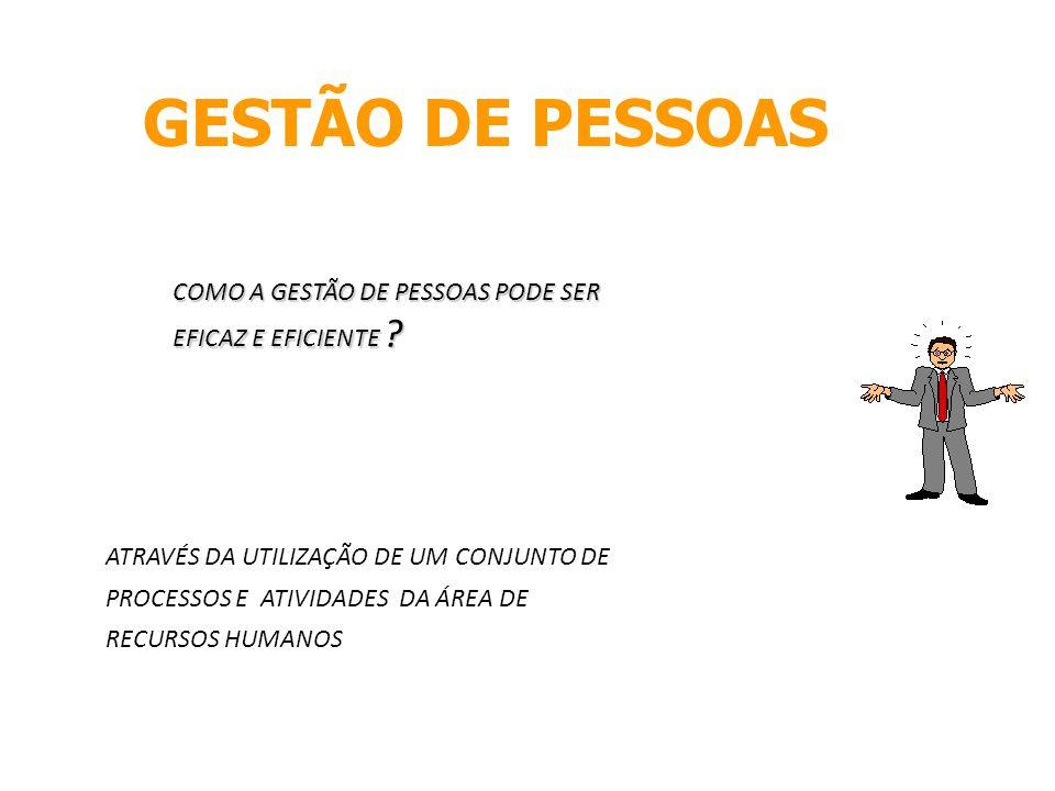 GESTÃO DE PESSOAS COMO A GESTÃO DE PESSOAS PODE SER