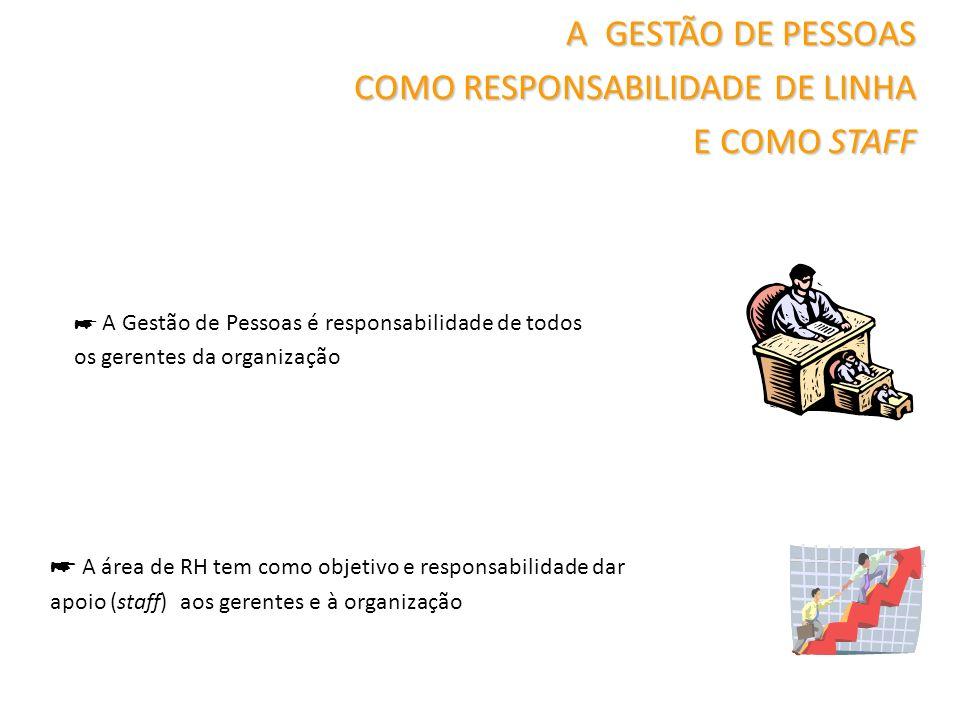 COMO RESPONSABILIDADE DE LINHA E COMO STAFF
