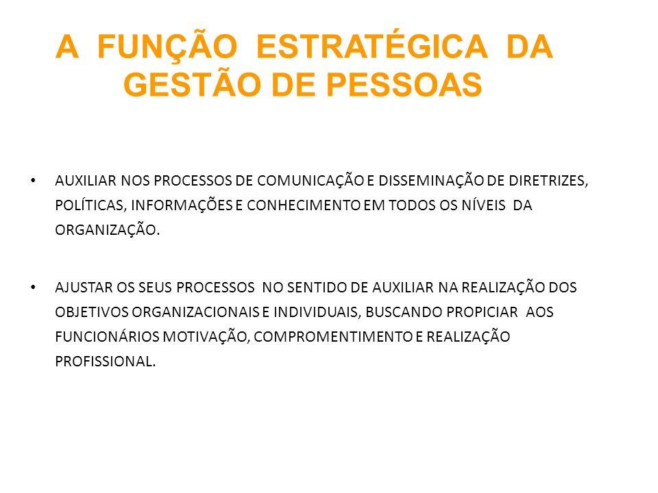 A FUNÇÃO ESTRATÉGICA DA GESTÃO DE PESSOAS