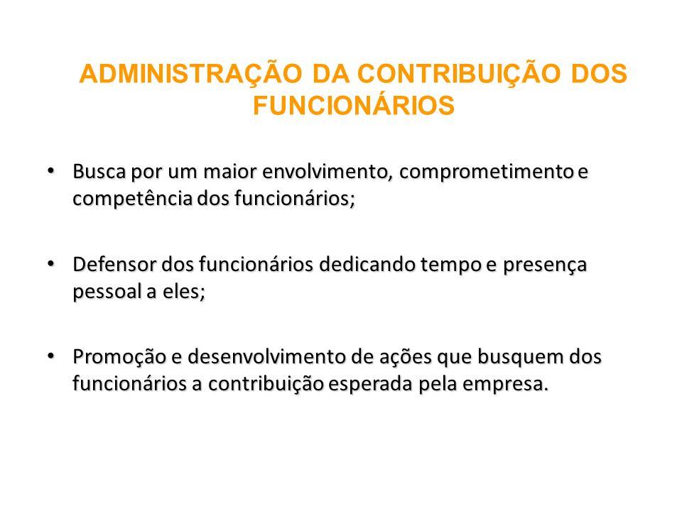 ADMINISTRAÇÃO DA CONTRIBUIÇÃO DOS FUNCIONÁRIOS