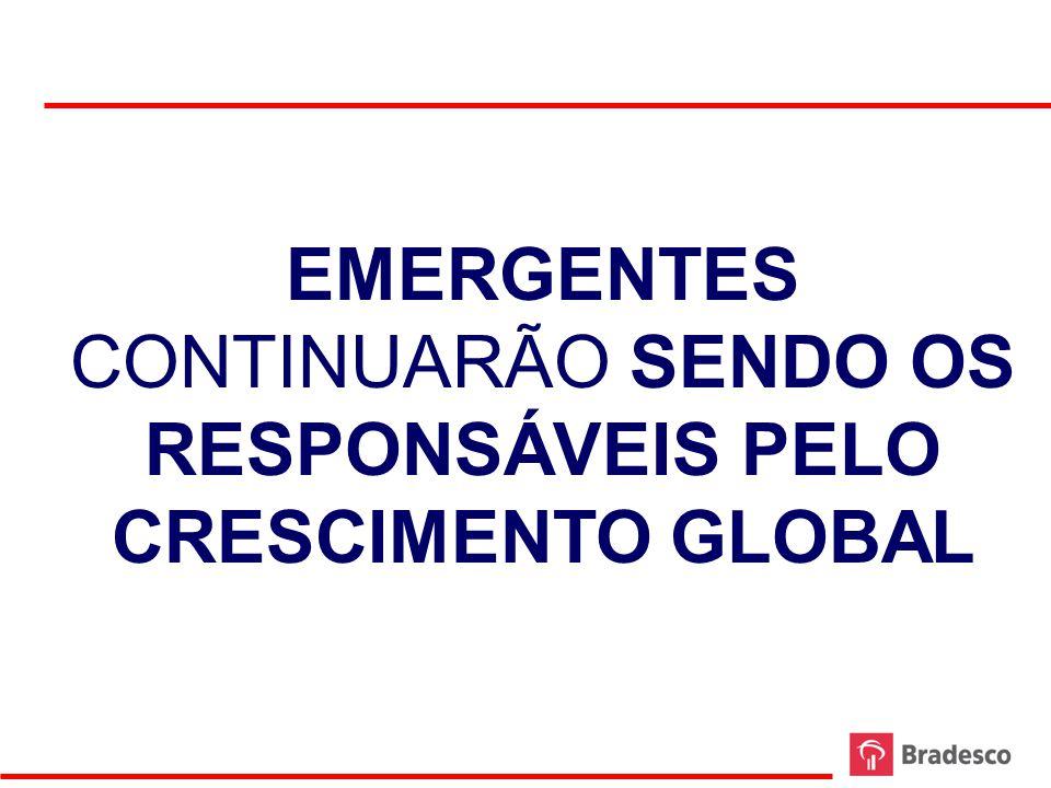 EMERGENTES CONTINUARÃO SENDO OS RESPONSÁVEIS PELO CRESCIMENTO GLOBAL