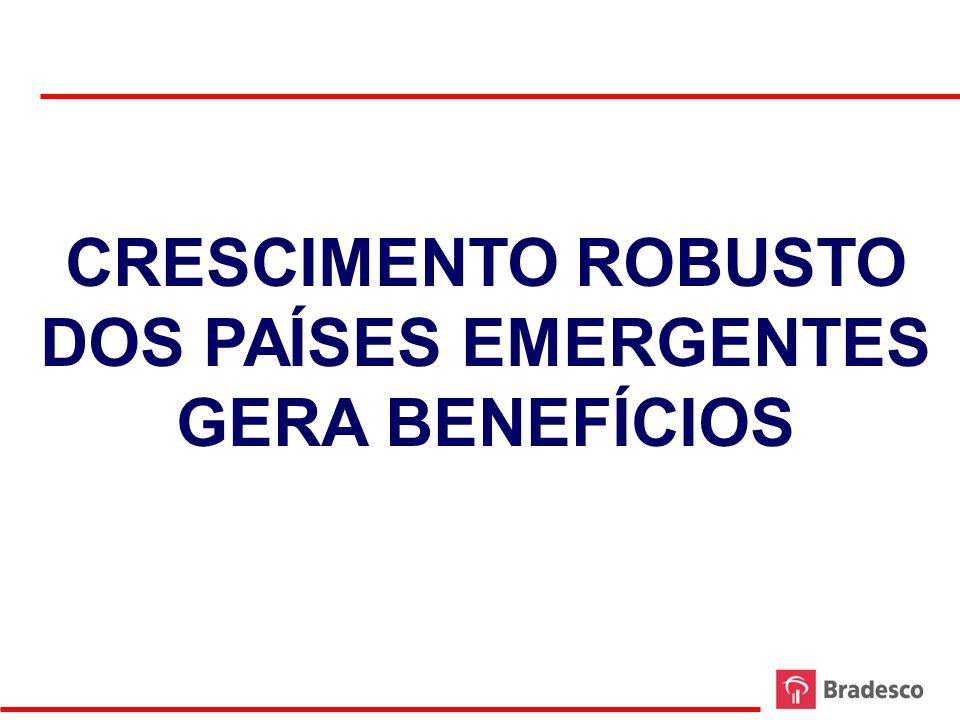 CRESCIMENTO ROBUSTO DOS PAÍSES EMERGENTES GERA BENEFÍCIOS