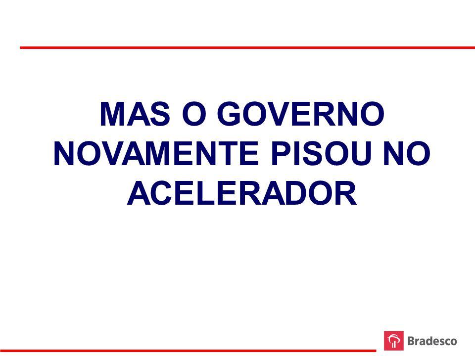 MAS O GOVERNO NOVAMENTE PISOU NO ACELERADOR