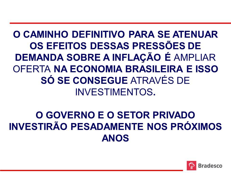 O GOVERNO E O SETOR PRIVADO INVESTIRÃO PESADAMENTE NOS PRÓXIMOS ANOS