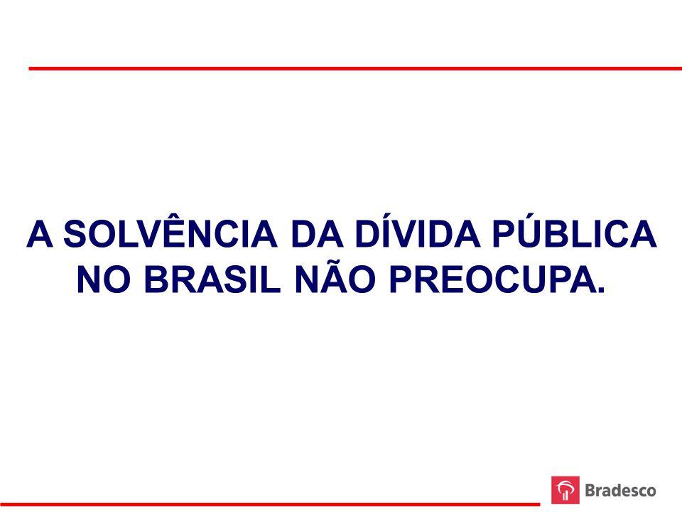 A SOLVÊNCIA DA DÍVIDA PÚBLICA NO BRASIL NÃO PREOCUPA.
