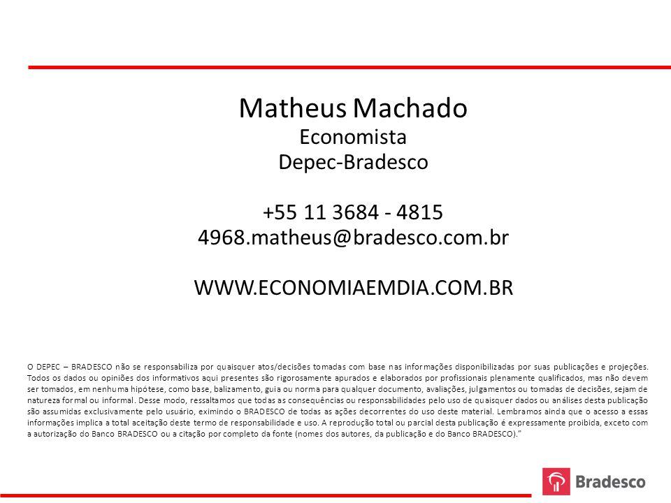Matheus Machado Economista Depec-Bradesco +55 11 3684 - 4815