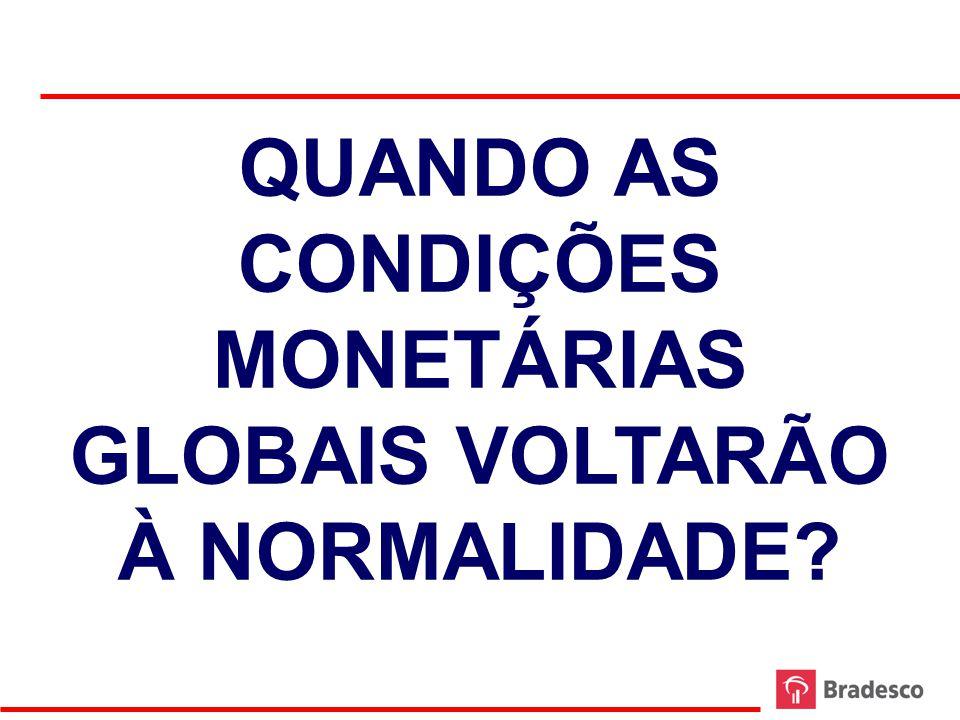 QUANDO AS CONDIÇÕES MONETÁRIAS GLOBAIS VOLTARÃO À NORMALIDADE