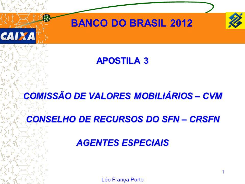 BANCO DO BRASIL 2012 APOSTILA 3 COMISSÃO DE VALORES MOBILIÁRIOS – CVM