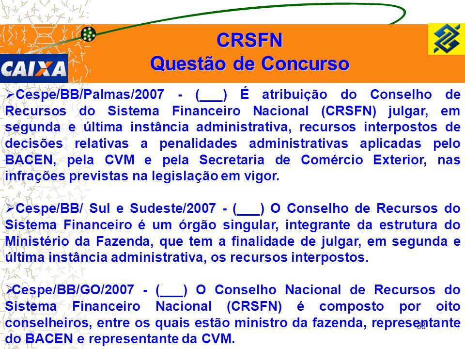 CRSFN Questão de Concurso