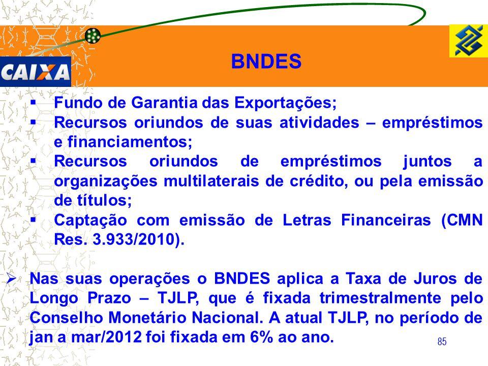 BNDES Fundo de Garantia das Exportações;