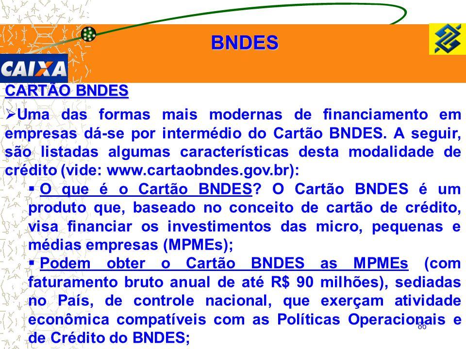 BNDES CARTÃO BNDES.
