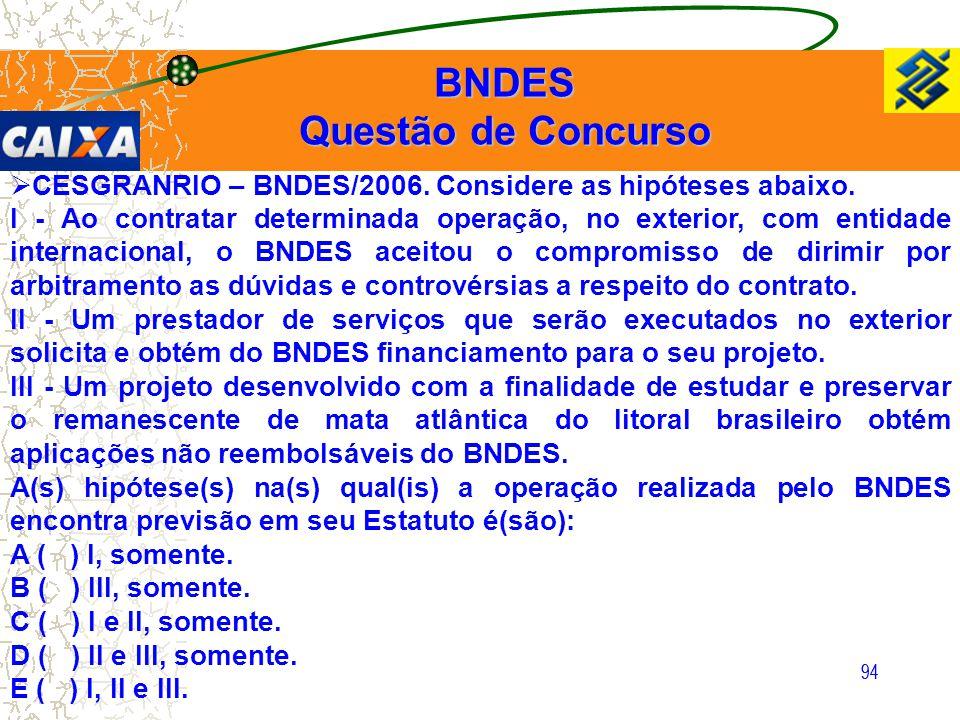BNDES Questão de Concurso