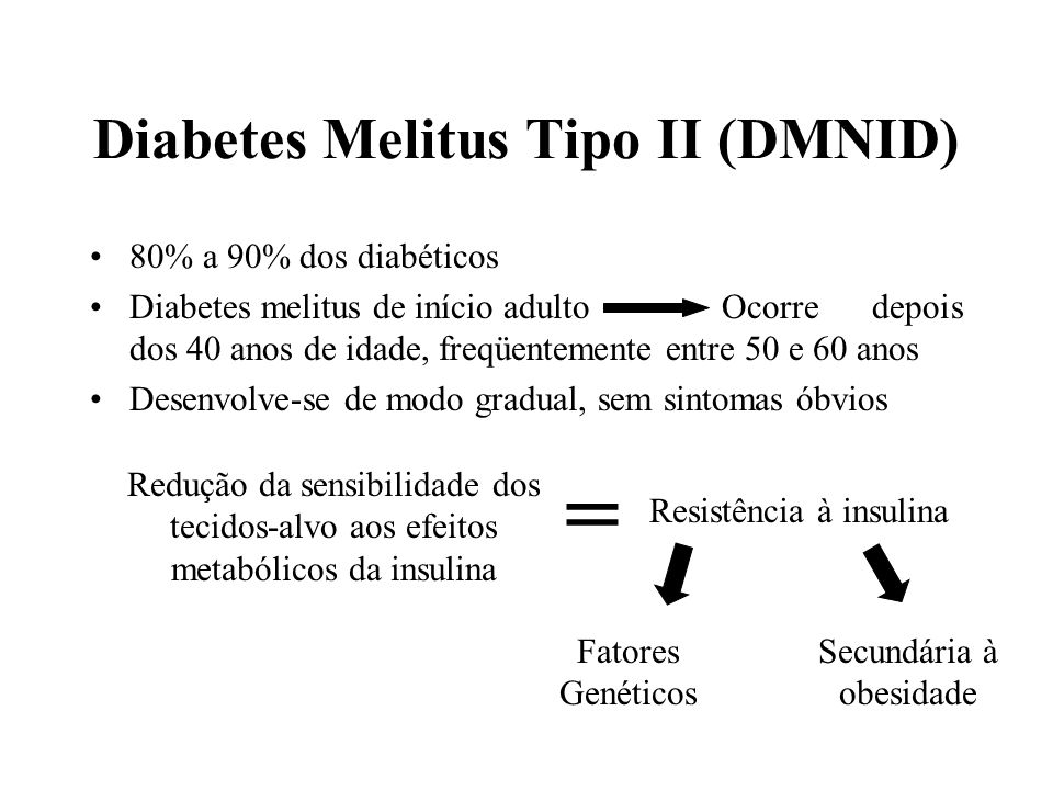 Diabetes Melitus Tipo II (DMNID)