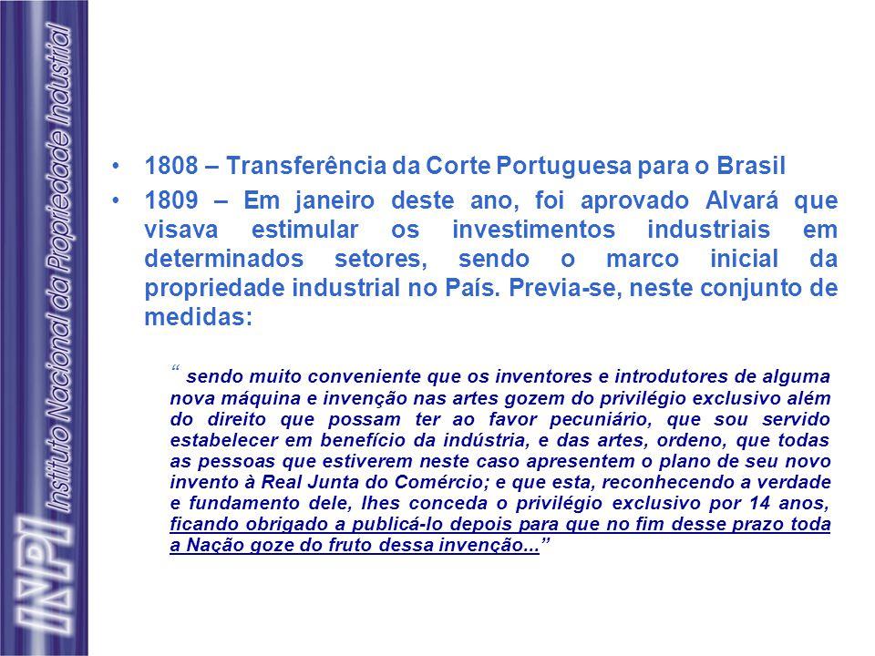 1808 – Transferência da Corte Portuguesa para o Brasil