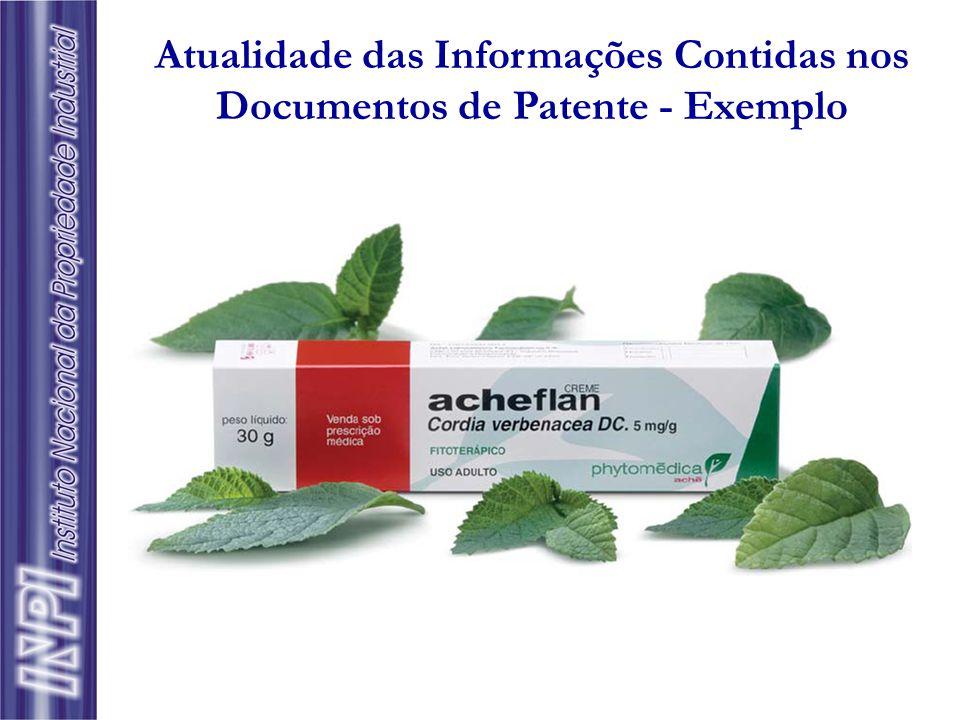 Atualidade das Informações Contidas nos Documentos de Patente - Exemplo