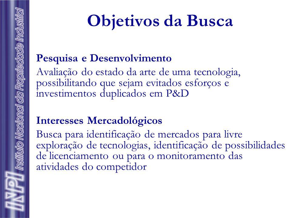 Objetivos da Busca Pesquisa e Desenvolvimento