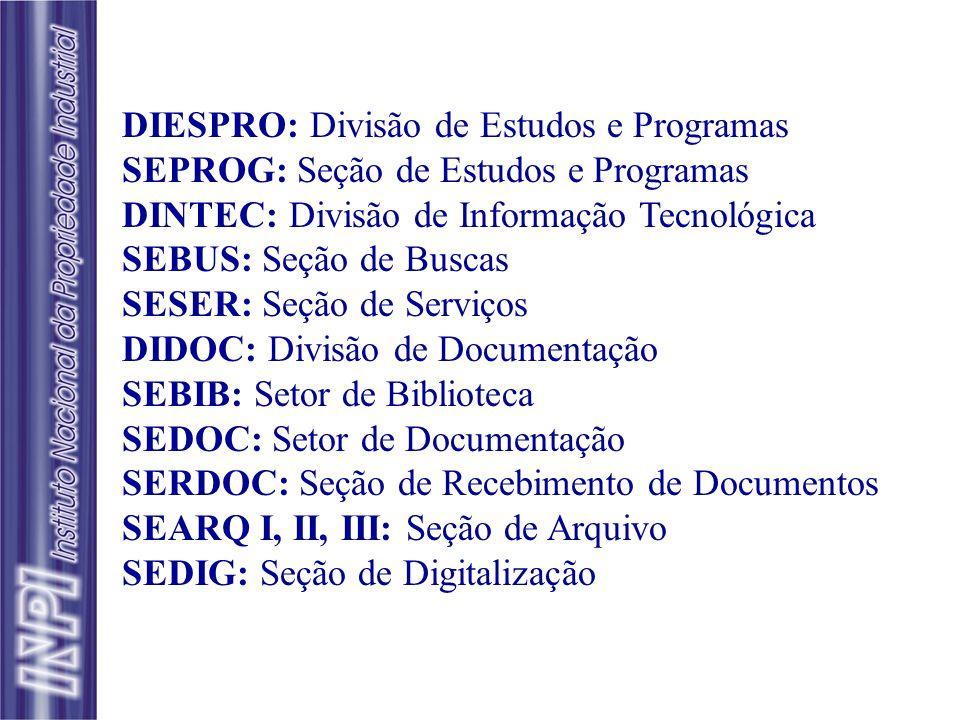 DIESPRO: Divisão de Estudos e Programas